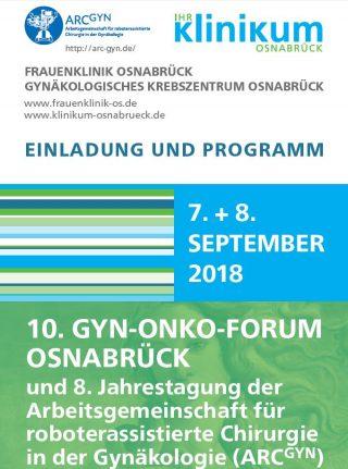 10. Gyn-Onko-Forum, Osnabrück, 07.-08. September 2018